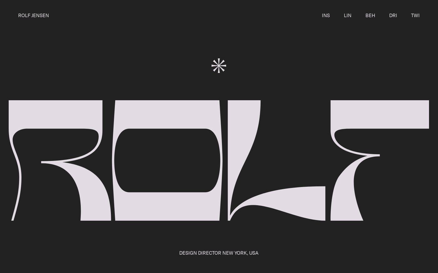 Screenshot of Rolf Jensen | TEMP SITE V0.5 website