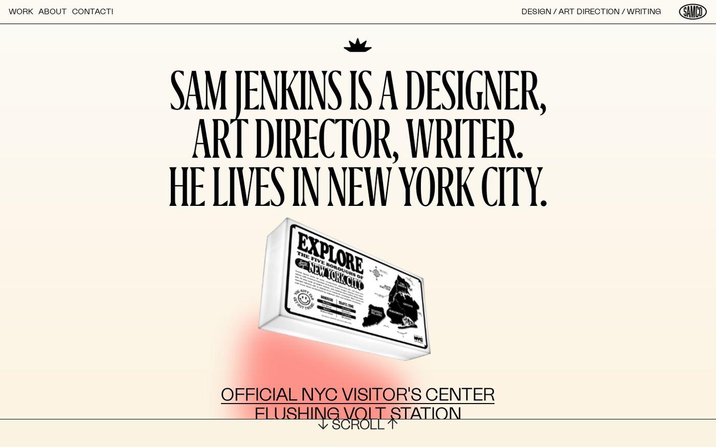 Screenshot of Sam Jenkins website