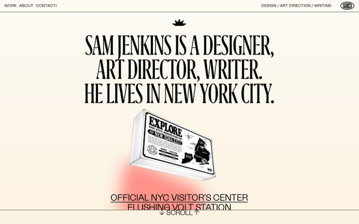 Screenshot of Sam Jenkins website