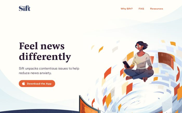 Screenshot of Sift - Feel news differently