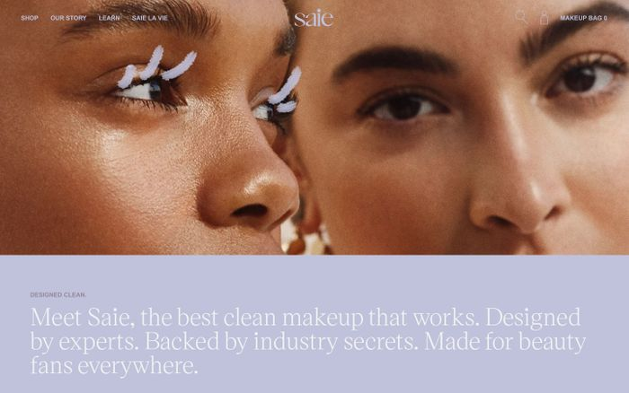 Screenshot of Saie | Clean Makeup You'll Love