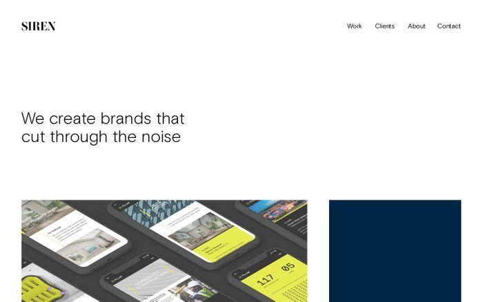 Screenshot of Siren Design SF — Creating brands that cut through the noise