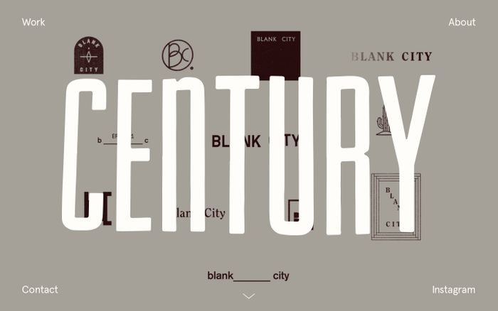 Screenshot of Century website