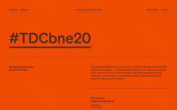 Screenshot of The Design Conference 2020 website