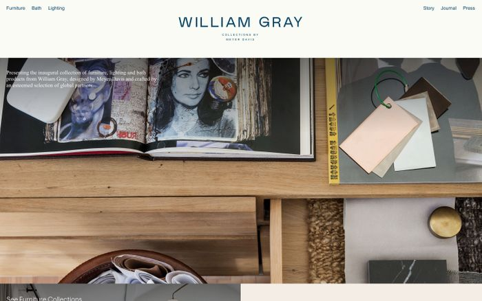 Screenshot of William Gray website