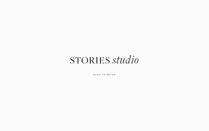 Screenshot of Stories Studio website