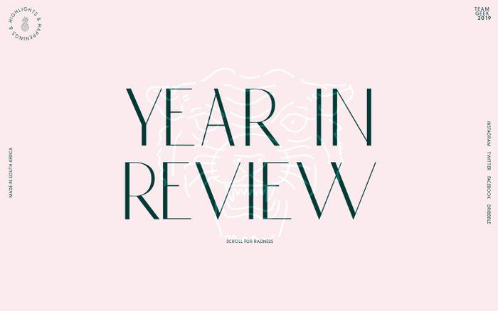 Screenshot of Teamgeek Year In Review 2019 website