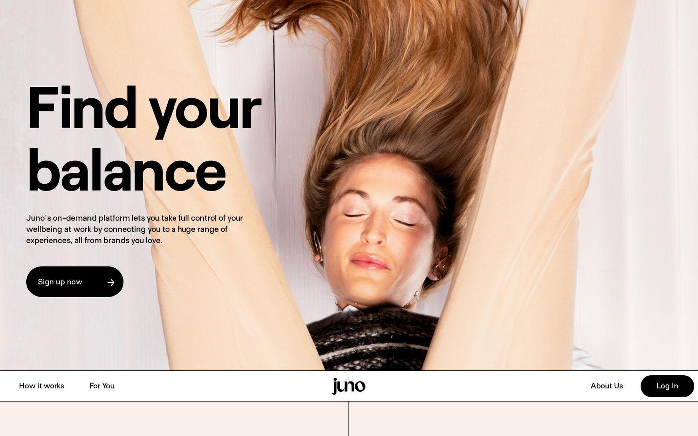 Screenshot of Juno website