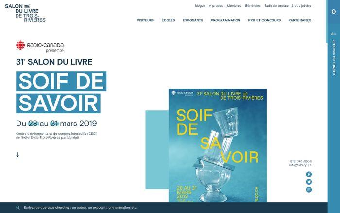 Screenshot of Salon du livre de Trois-RivièresSalon du livre de Trois-Rivières
