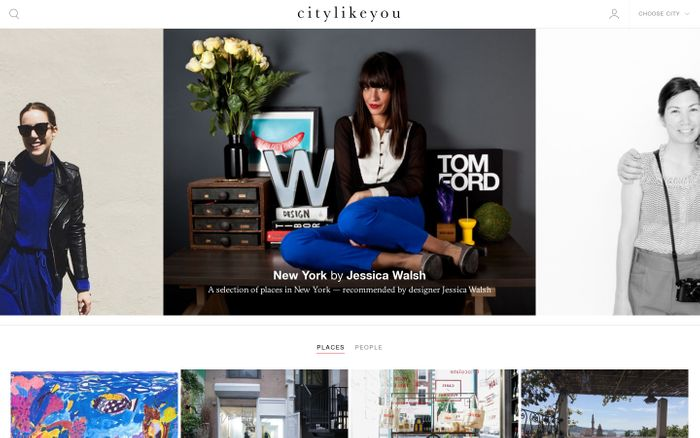 Screenshot of Citylikeyou website