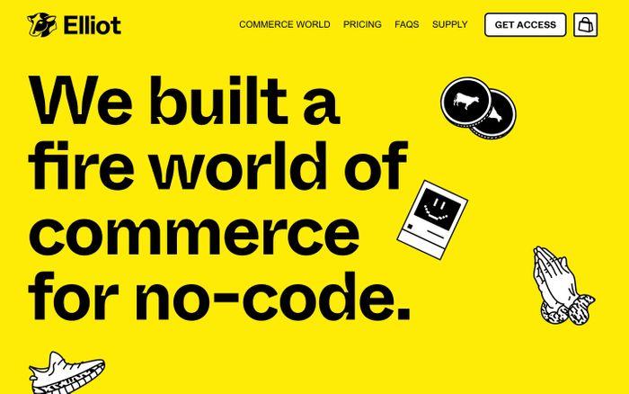 Screenshot of Elliot website