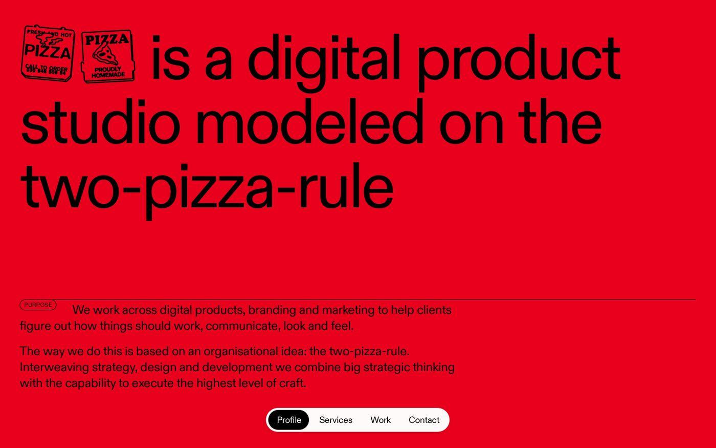 Screenshot of Pizza Pizza website