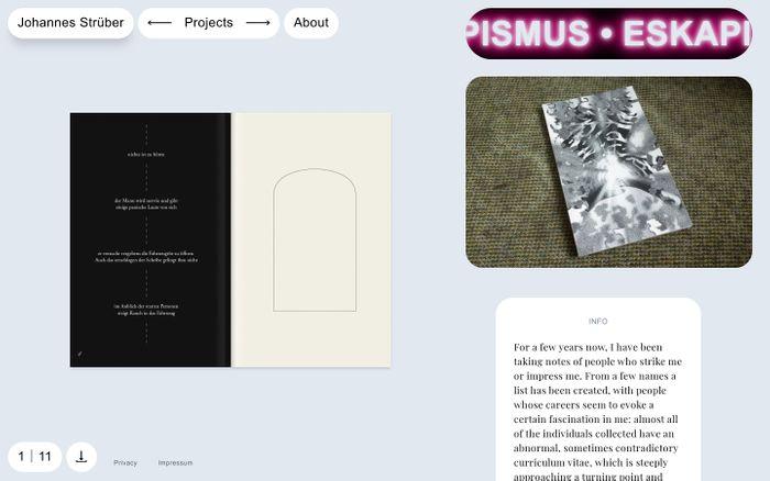 Screenshot of Johannes Strüber | Eskapismus: Beobachtungen und ein Versuch der Annäherung