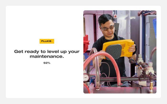 Screenshot of Fluke website