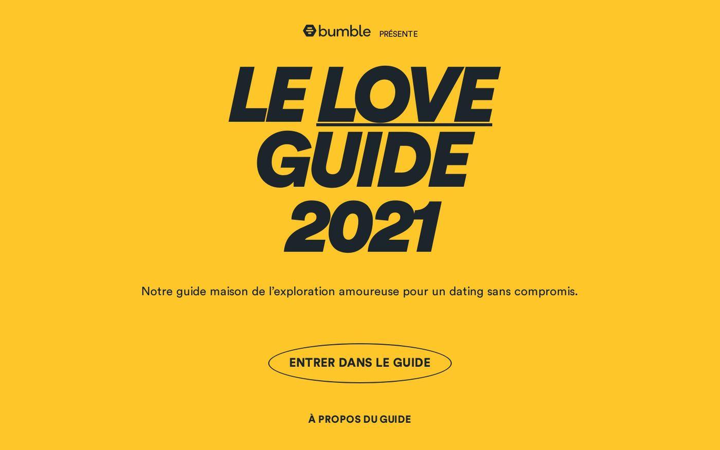 Screenshot of Bumble Love guide 2021 website