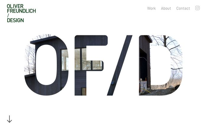 Screenshot of Oliver Freundlich Design: Residential and Commercial Design, New York City