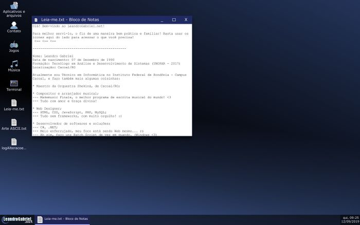 Screenshot of LeandroGabriel.net