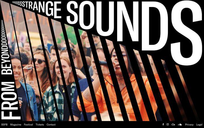 Screenshot of Magazine - STRANGE SOUNDS FROM BEYOND website