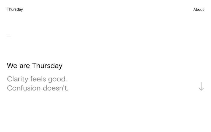 Screenshot of Thursday Design Studio | Creative agency in Winchester
