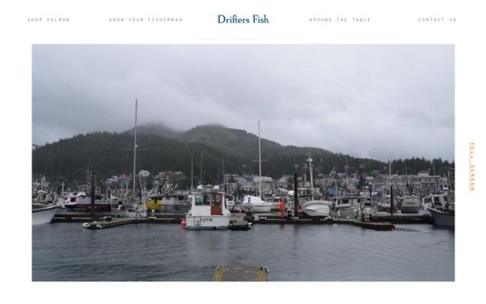 Screenshot of Drifters fish website