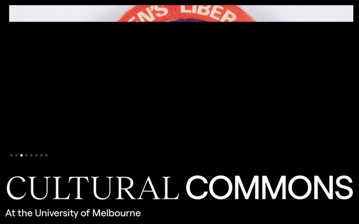 Screenshot of Cultural Commons website