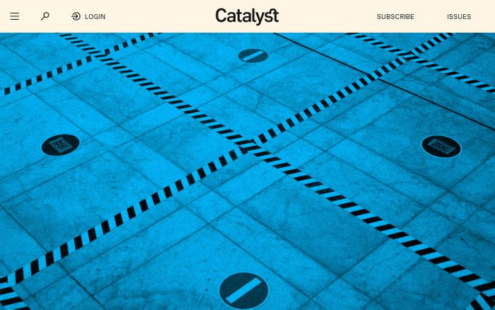 Screenshot of Catalyst journal website