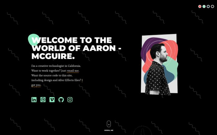 Screenshot of Aaron McGuire | Freelance Interactive Developer