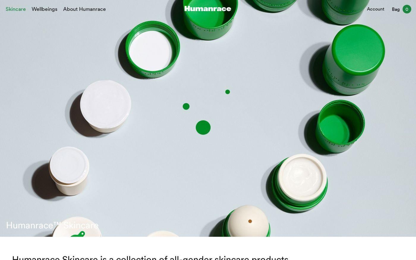 Screenshot of Humanrace website