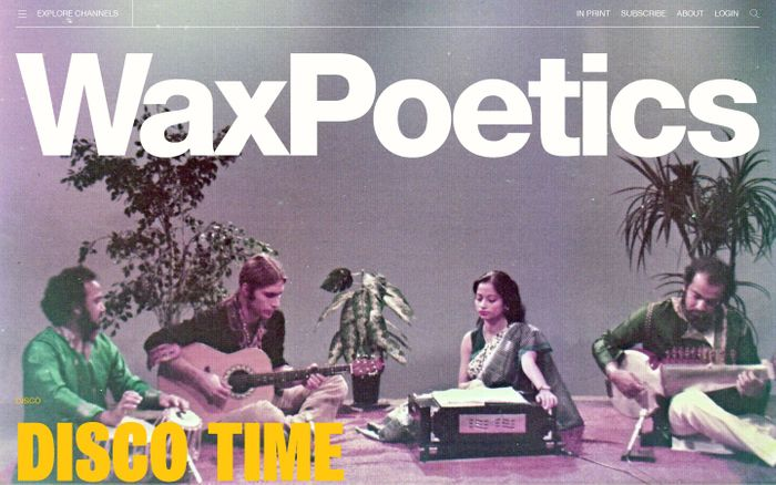 Screenshot of Wax Poetics website