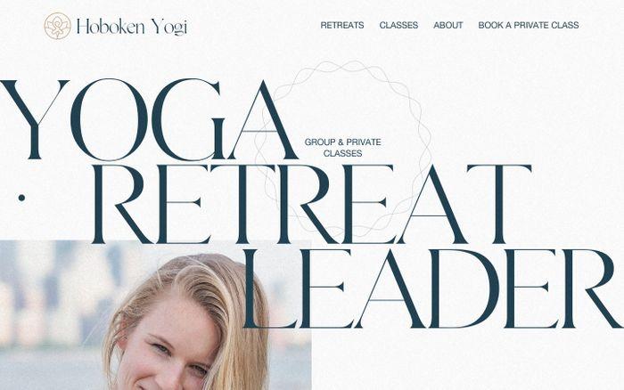 Screenshot of Hoboken Yogi website