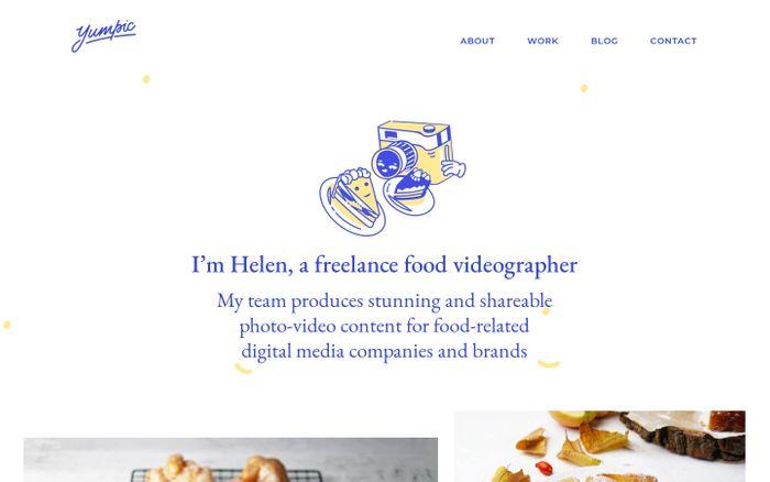 Screenshot of Yumpic — foodstyle studio
