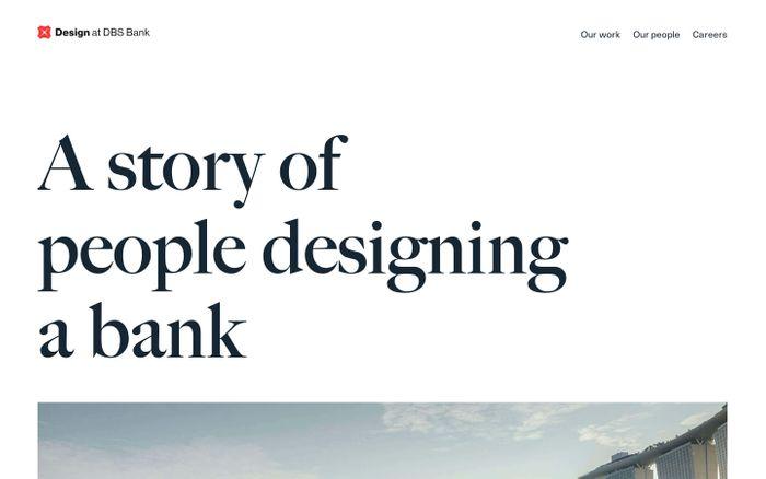 Screenshot of Design at DBS Bank