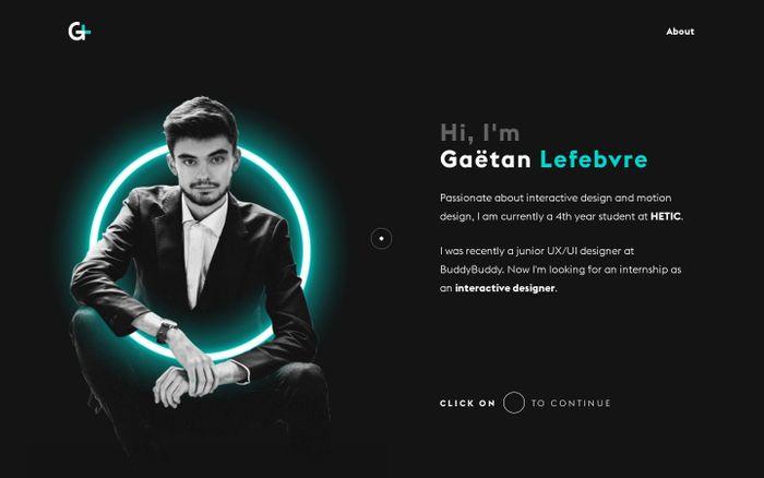 Screenshot of Gaëtan LEFEBVRE | Interactive Designer & Motion Designer