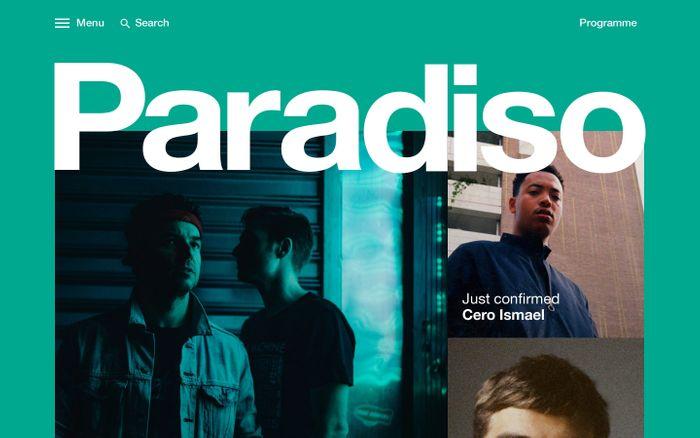 Screenshot of Paradiso