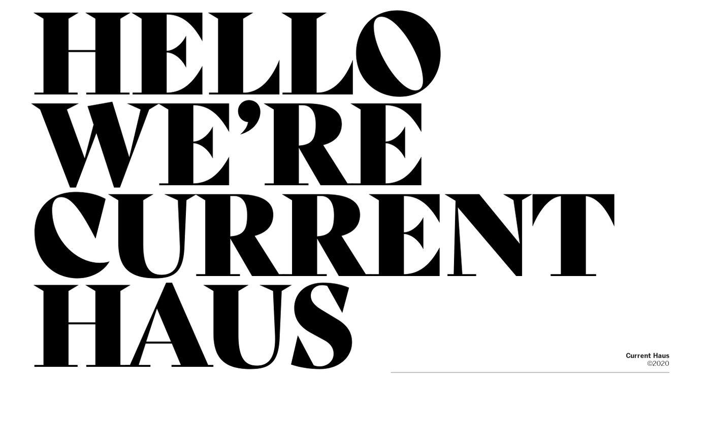 Screenshot of Current Haus website