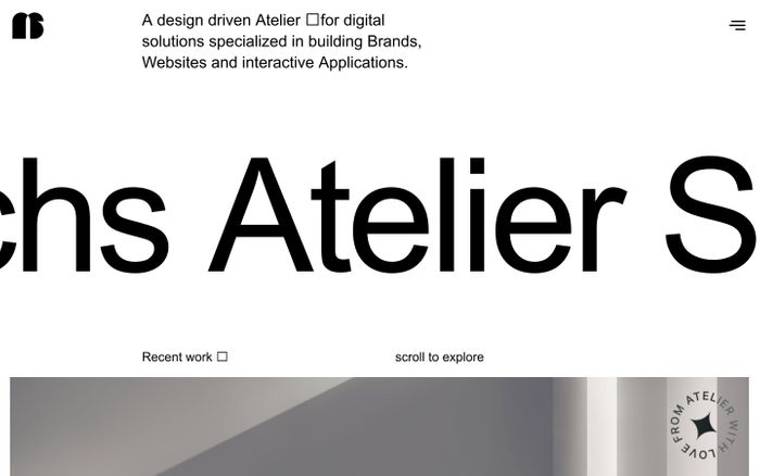 Screenshot of Atelier Sēchs website