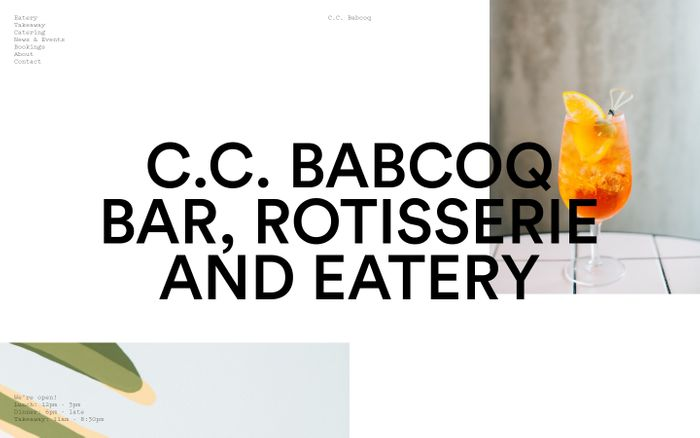 Screenshot of C.C. Babcoq website