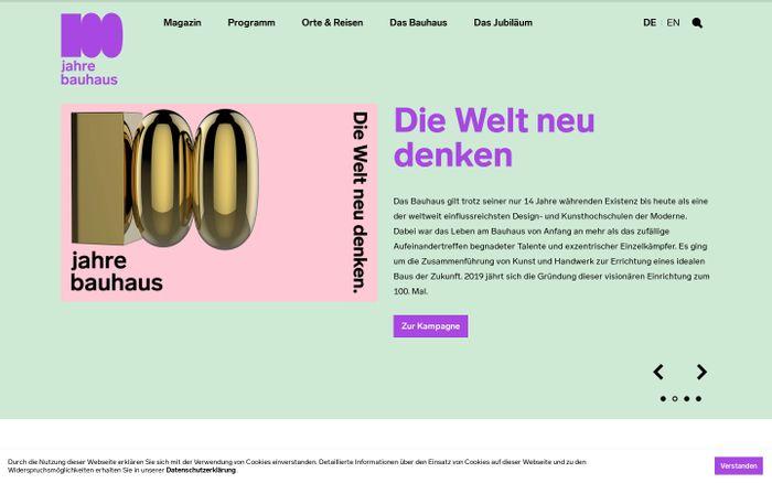 Screenshot of Bauhaus100