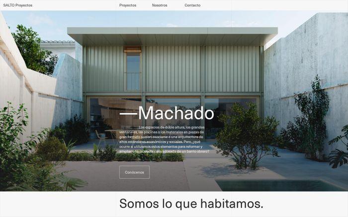 Screenshot of SALTO Proyectos — Estudio de Arquitectura en Granada y Murcia