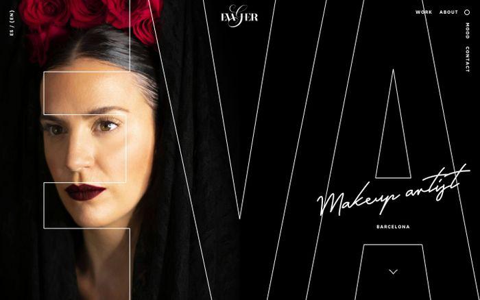 Screenshot of Eva García | Makeup Artist in Barcelona