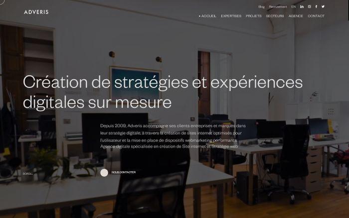 Screenshot of Adveris | Agence de Communication Digitale & Création Site Internet