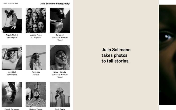 Screenshot of Julia Sellmann Photography