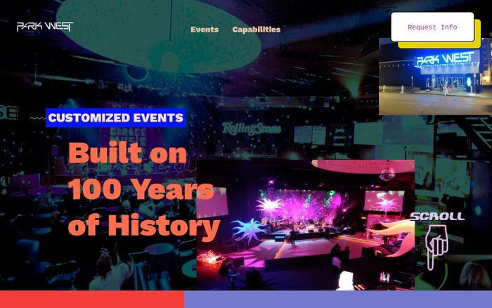 Screenshot of Park West Events – Customized Events Built on 100 Years of History