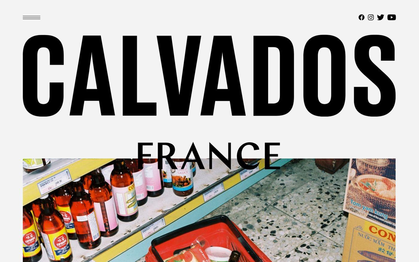 Screenshot of Calvados france website