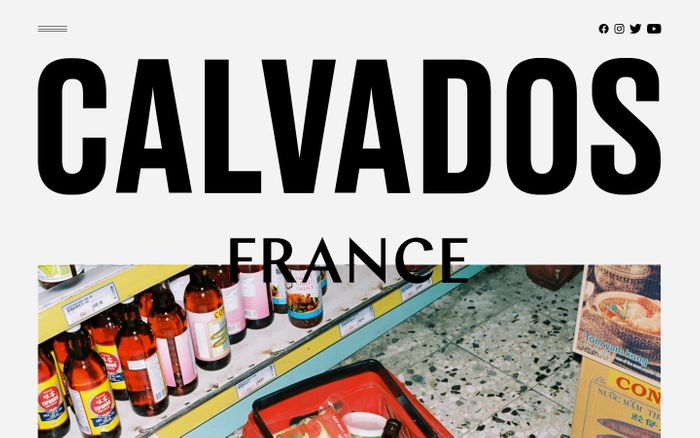 Screenshot of Calvados france website