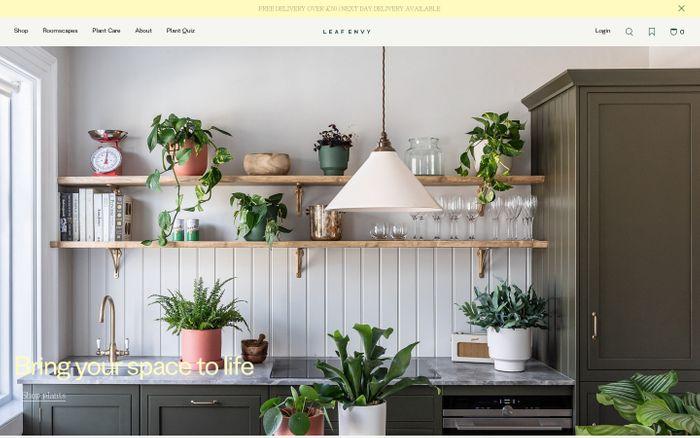 Screenshot of Leaf Envy website