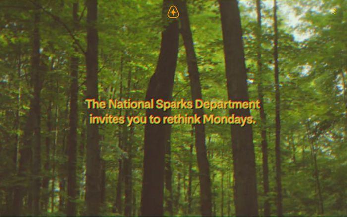 Screenshot of The National Sparks Department website