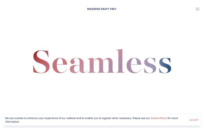 Screenshot of Niederer Kraft Frey