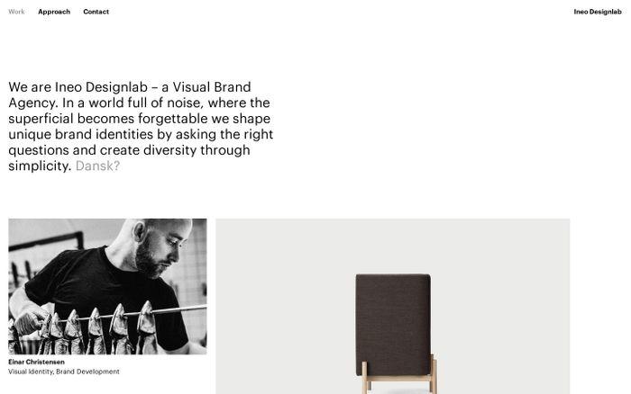 Screenshot of Ineo website