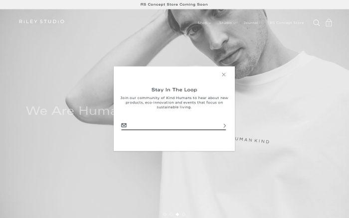 Screenshot of Riley Studio | Sustainable Clothing | Ethical Fashion